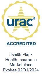 URAC Health Insurance Marketplace Accredited Expires 02/01/2021